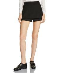 Maje - Ipam Double-layer Mini Shorts - Lyst