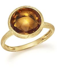 Marco Bicego - 18k Yellow Gold Jaipur Ring With Citrine - Lyst