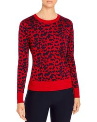 BOSS by Hugo Boss Faddie Animal Print Sweater - Red