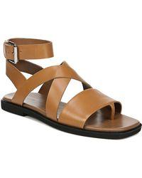 Via Spiga Women's Anta Leather Sandals - Brown