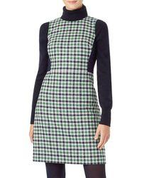 Hobbs Rosella Plaid Wool Dress - Green