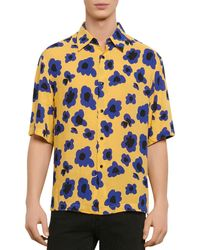 Sandro Poppy Print Shirt - Yellow