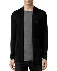 AllSaints Mode Merino Wool Open Cardigan Sweater - Black