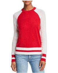 Aqua - Color-block Raglan Cashmere Sweater - Lyst
