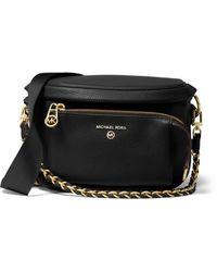 MICHAEL Michael Kors Slater Medium Sling Pack Leather Messenger - Black