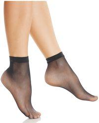 Fogal - Fishnet Ankle Socks - Lyst