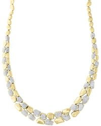 Bloomingdale's Diamond Pebble Necklace In 14k Yellow Gold - Metallic