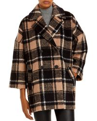 Just Female Chelsea Oversized Plaid Coat - Brown