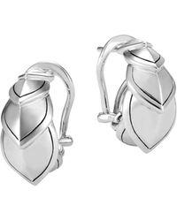 John Hardy - Sterling Silver Legends Naga Buddha Belly Earrings - Lyst