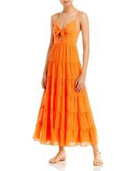 Alice + Olivia Minka Tie Front Maxi Dress - Orange