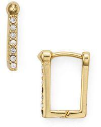 Rebecca Minkoff | Simple Pavé Huggie Earrings | Lyst