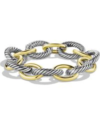 David Yurman - Oval Extra Large Link Bracelet With Gold - Lyst