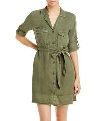 Bella Dahl Belted Utility Shirt Dress - Green