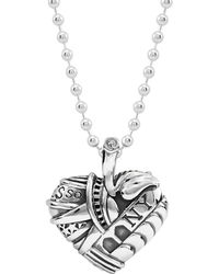 Lagos - Sterling Silver Heart Of New York Necklace - Lyst