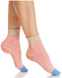 Hue - Roll Top Shortie Socks - Lyst