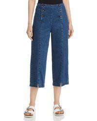 Vero Moda Flavia High - Rise Sailor Trousers - Blue