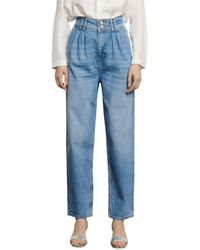 Sandro Pearline Straight Jeans In Blue Jean