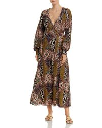 The Upside Poppy Clash Kate Wrap Swim Cover - Up - Brown
