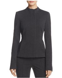 Theory | Sculpted Knit Twill Jacket | Lyst