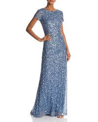 Adrianna Papell - Sequined Scoop - Back Gown - Lyst