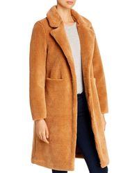 Vero Moda Holly Long Teddy Coat - Brown