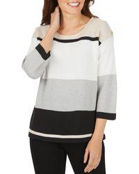 Foxcroft Linden Color - Block Sweater - Multicolor