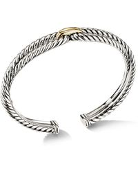 David Yurman - Cable Loop Bracelet With 18k Yellow Gold - Lyst