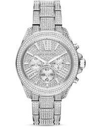 5c39da685ad7 Michael Kors - Wren Pave Chronograph Watch - Lyst