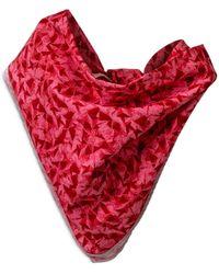 Robert Graham Cotton Paper Airplane Bandana Face Mask - Red