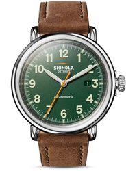 Shinola Runwell Automatic Watch - Green