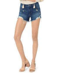 Joe's Jeans Daisy - Detail Cutoff Denim Shorts In Jasmin - Blue
