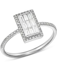 KC Designs - 14k White Gold Mosaic Illusion Diamond Ring - Lyst