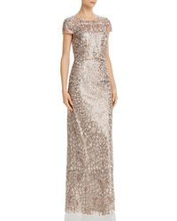 Adrianna Papell Sequin - Embroidered Gown - Metallic