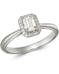 Bloomingdale's Emerald - Cut Diamond Engagement Ring In 18k White Gold