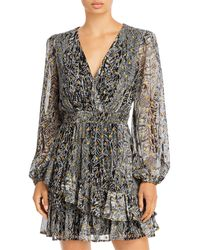Aqua Asymmetrical Ruffle Dress - Black