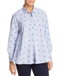 Marina Rinaldi - Bahamas Bee & Stripe Print Button-down Shirt - Lyst