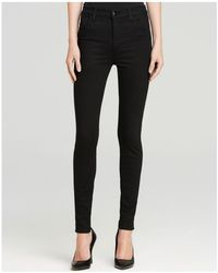 J Brand   Maria High Rise Skinny Jeans In Seriously Black   Lyst