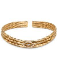 Marina B 18k Yellow Gold Trisolina Diamond Flex Collar Necklace - Metallic