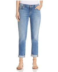 Eileen Fisher - Cropped Boyfriend Jeans In Sky Blue - Lyst