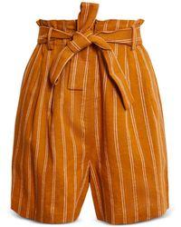 BCBGMAXAZRIA Tie Waist Shorts - Orange