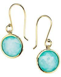 Ippolita - 18k Yellow Gold Mini Lollipop® Turquoise Doublet Drop Earrings - Lyst