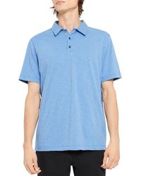 Theory Bron Regular Fit Polo Shirt - Blue