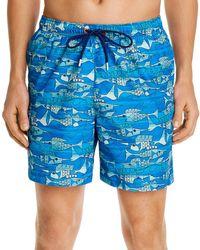 Tommy Bahama Naples Blue Fish Bay Swim Trunks