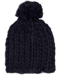 Echo Chunky Knit Pom Pom Beanie - Black