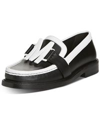 Moschino Logo Hardware Leather Loafers - Black