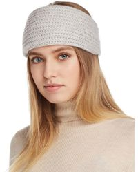 C By Bloomingdale's Chunky Rib-knit Cashmere Headband - Multicolour