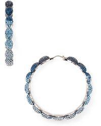 Atelier Swarovski - Moselle Hoop Earrings - Lyst