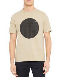 Theory Essential Sphere Geometric Print Tee - Multicolour