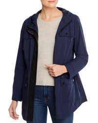 Calvin Klein Faux - Leather Trimmed Anorak - Blue