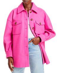 Aqua Shirt Jacket - Pink